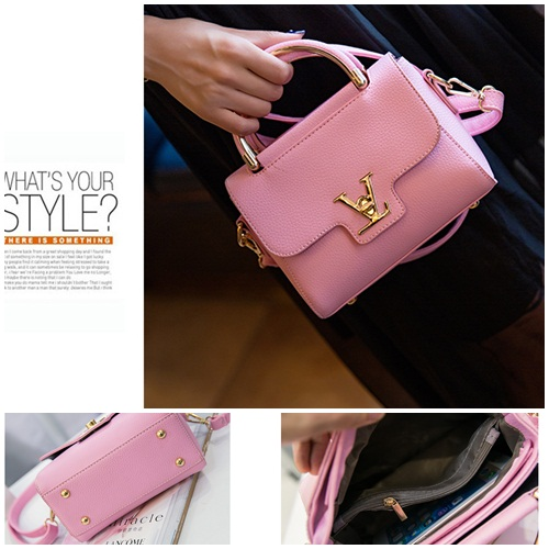 B2299 IDR.152.000 MATERIAL PU SIZE L20XH16XW7CM WEIGHT 600GR COLOR PINK