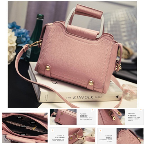 B2706 IDR.176.000 MATERIAL PU SIZE L22XH17XW10CM WEIGHT 750GR COLOR PINK