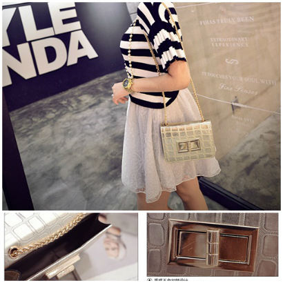 B2707 IDR.150.000 MATERIAL PU SIZE L17XH12XW5CM WEIGHT 450GR COLOR GOLD