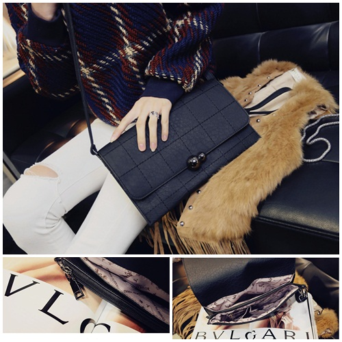 B27103 IDR.160.000 MATERIAL PU SIZE L28XH18XW3CM WEIGHT 600GR COLOR BLACK