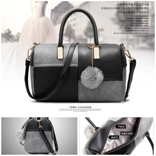 B27260 IDR.143.000 TAS FASHION MATERIAL PU SIZE L28XH19XW15CM WEIGHT 550GR COLOR BLACKGRAY