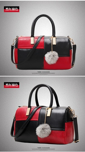 B27260 IDR.143.000 TAS FASHION MATERIAL PU SIZE L28XH19XW15CM WEIGHT 550GR COLOR BLACKRED