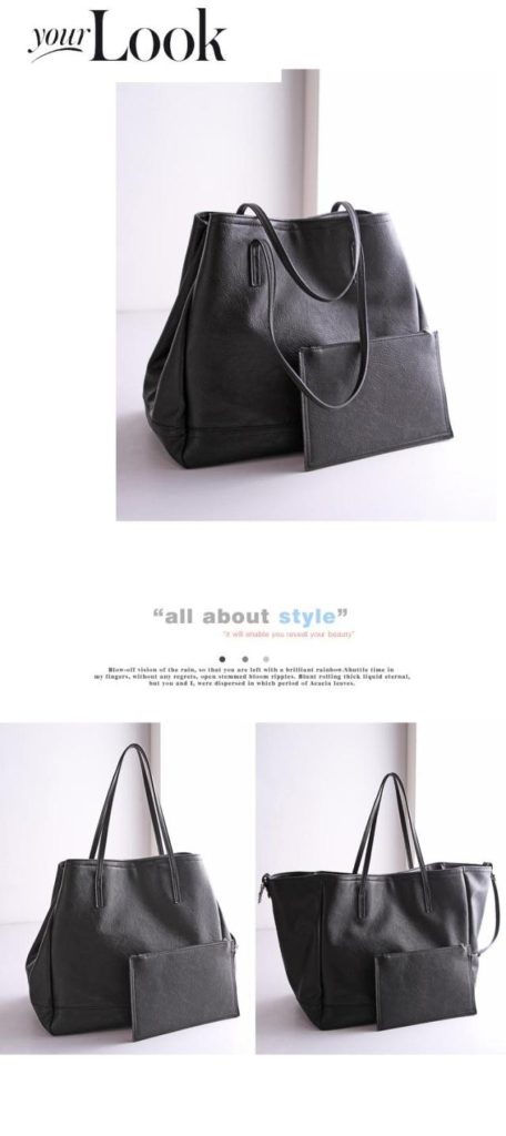 B2732(2in1) IDR.182.000 MATERIAL PU SIZE L35XH32X20CM WEIGHT 1100GR COLOR BLACK