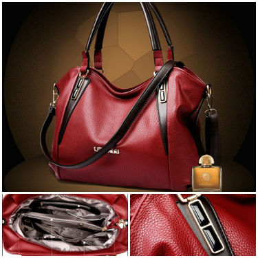 B2735 IDR.197.000 MATERIAL PU SIZE L32XH26XW11CM WEIGHT 900GR COLOR RED