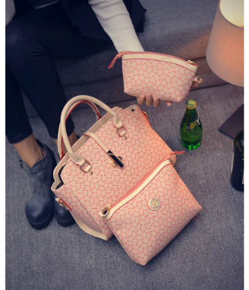 B27516-(3in1) IDR.220.000 MATERIAL PU SIZE L38XH24XW13CM WEIGHT 1000GR COLOR PINK