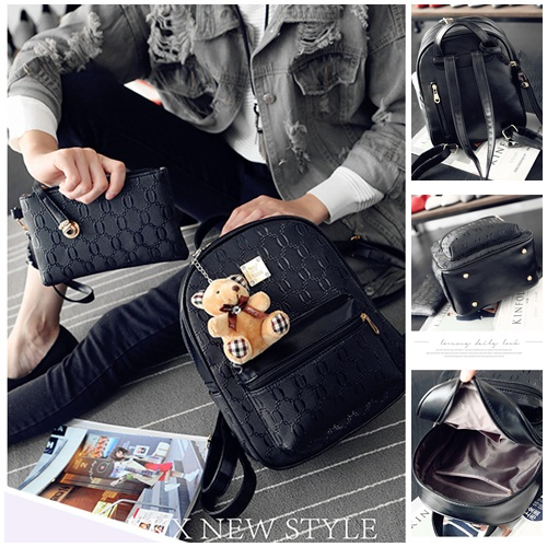 B27580 (2in1) IDR.162.000 MATERIAL PU SIZE L24XH31XW12CM WEIGHT 800GR COLOR BLACK