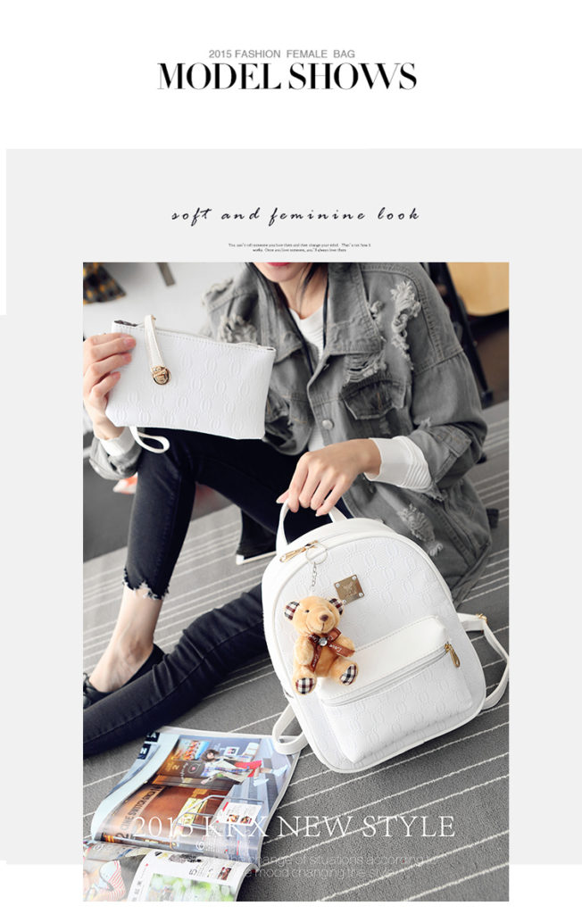 B27580 (2in1) IDR.162.000 MATERIAL PU SIZE L24XH31XW12CM WEIGHT 800GR COLOR WHITE