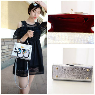 B27819 IDR.173.000 MATERIAL PU SIZE L27XH17XW8CM WEIGHT 650GR COLOR SILVER