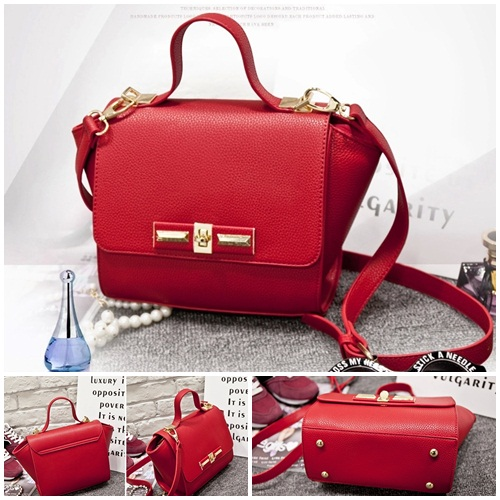 B2786 IDR.155.000 MATERIAL PU SIZE L22XH19XW13CM WEIGHT 600GR COLOR RED