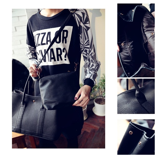 B27892-(2in1) IDR.172.000 MATERIAL PU SIZE L37-31XH25XW15CM WEIGHT 750GR COLOR BLACK
