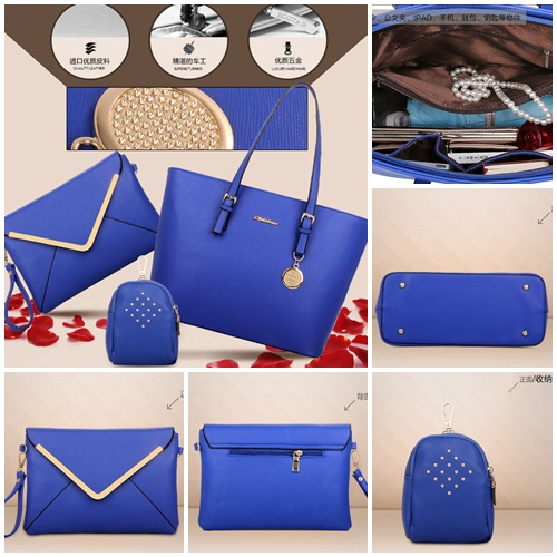 B366-(3in1) IDR.215.000 MATERIAL PU SIZE L33-41XH27XW14CM WEIGHT 1000GR COLOR BLUE