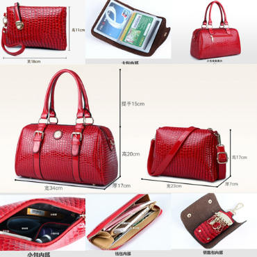 B3680-(6in1) IDR.240.000 MATERIAL PU SIZE BIG-L34XH20XW17CM WEIGHT 1400GR COLOR RED
