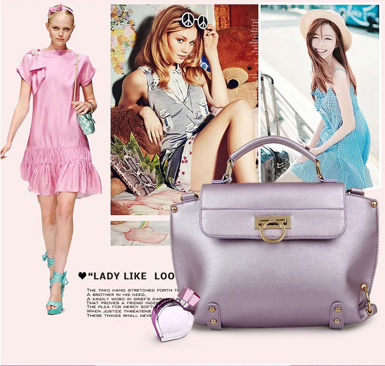 B412 IDR.205.000 MATERIAL PU SIZE L32XH22XW10CM WEIGHT 750GR COLOR VIOLET