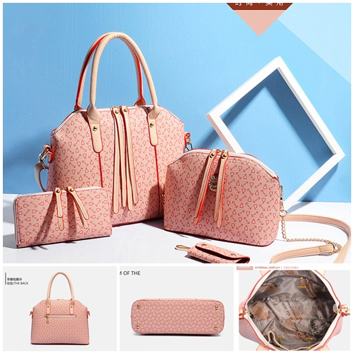 B557-(4in1) IDR.230.000 MATERIAL PU SIZE L33XH25XW12CM WEIGHT 1400GR COLOR PINK