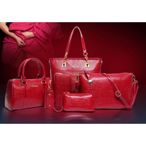 B558-(6in1) IDR.250.000 MATERIAL PU SIZE L30XH30XW13,L27XH18XW13CM WEIGHT 1400GR COLOR RED