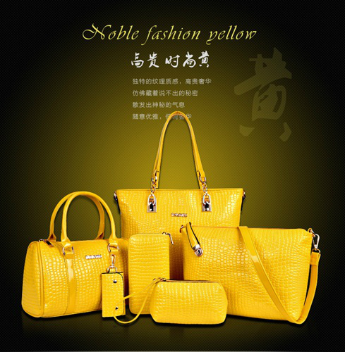 B558(6in1) IDR.235.000 MATERIAL PU SIZE L30XH30XW13,L27XH18XW13CM WEIGHT 1400GR COLOR YELLOW