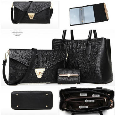 B583-(3in1) IDR.220.000 MATERIAL PU SIZE BIG-L33XH23XW14CM,MEDIUM-L28XH17CM WEIGHT 1300GR COLOR BLACK