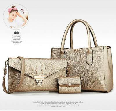 B583-(3in1) IDR.220.000 MATERIAL PU SIZE BIG-L33XH23XW14CM,MEDIUM-L28XH17CM WEIGHT 1300GR COLOR GOLD