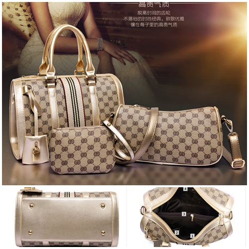 B6007-(3in1) IDR.240.000 TAS FASHION MATERIAL CANVAS SIZE L31XH21XW17CM WEIGHT 1200GR COLOR ASPHOTO