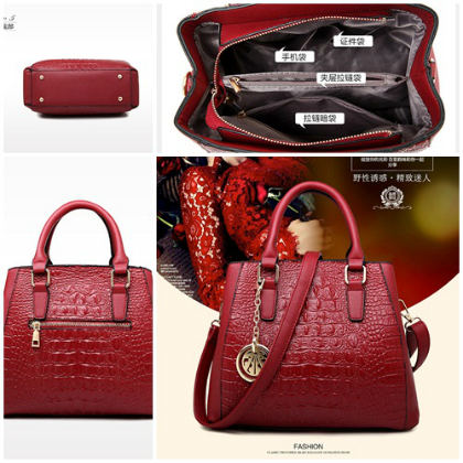 B621-(2in1) IDR.220.000 MATERIAL PU SIZE L30XH23XW14CM WEIGHT 1000GR COLOR RED