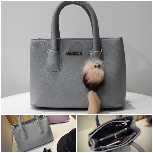 B6233 IDR.165.000 MATERIAL PU SIZE L25XH18XW12CM WEIGHT 650GR COLOR GRAY