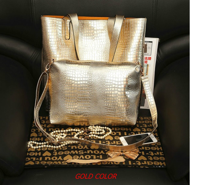 B684(2in1) IDR.176.000 MATERIAL PU SIZE L35XH36XW10CM WEIGHT 850GR COLOR GOLD