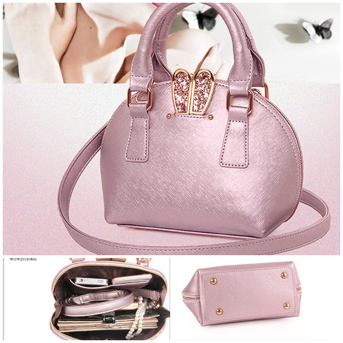 B695 IDR.182.000 MATERIAL PU SIZE L18XH17XW10CM WEIGHT 700GR COLOR PINK