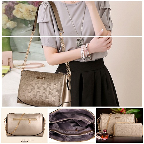 B7367(2in1) IDR.215.000 MATERIAL PU SIZE L26XH18XW10CM WEIGHT 800GR COLOR GOLD
