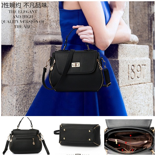 B749 IDR.196.000 MATERIAL PU SIZE L22XH20XW13CM WEIGHT 800GR COLOR BLACK
