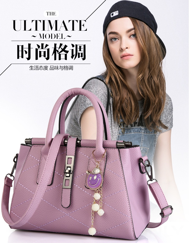 B751 IDR.205.000 MATERIAL PU SIZE L28XH20XW15CM WEIGHT 900GR COLOR VIOLET