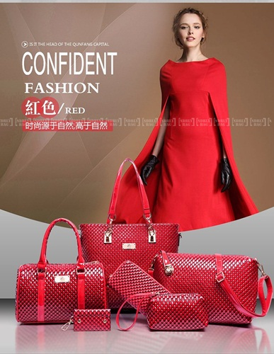 B7779-(6in1) IDR.225.000 MATERIAL PU SIZE L30XH29XW21CM WEIGHT 1350GR COLOR RED