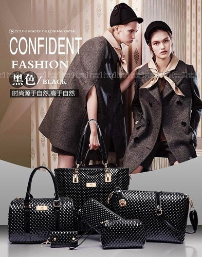 B7779-(6in1) IDR.225.000 MATERIAL PU SIZE L30XH29XW21CM WEIGHT 1400GR COLOR BLACK