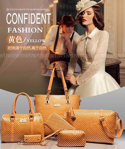 B7779-(6in1) IDR.225.000 MATERIAL PU SIZE L30XH29XW21CM WEIGHT 1400GR COLOR YELLOW