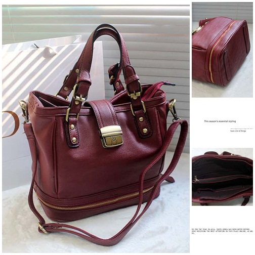 B8195 IDR.214.000 MATERIAL PU SIZE L32XH23XW17CM WEIGHT 820GR COLOR RED