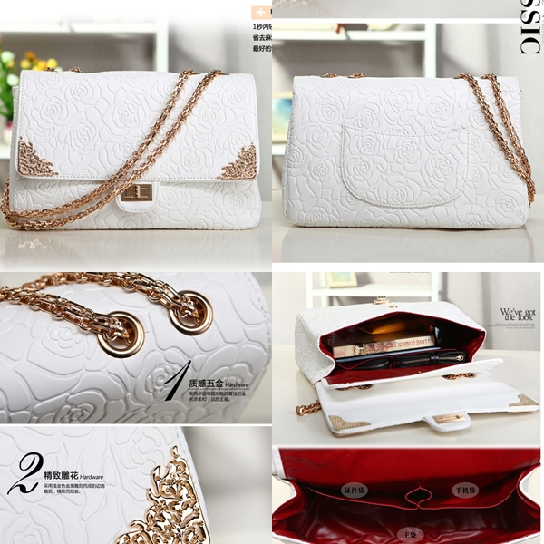 B8240 IDR.235.000 MATERIAL PU SIZE L31XH20XW10CM, STRAP 110CM WEIGHT 940GR COLOR WHITE