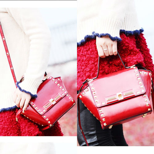 B8321 IDR.195.000 MATERIAL PU SIZE L25XH17XW9CM WEIGHT 650GR COLOR RED