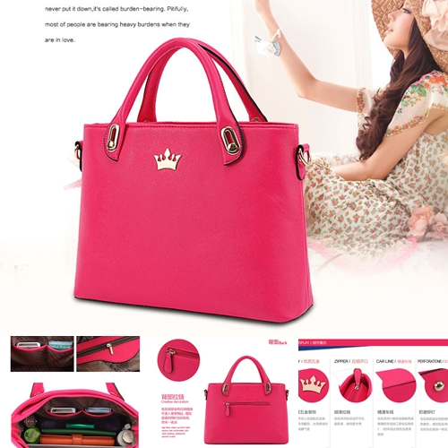 B8345 IDR.199.000 MATERIAL PU SIZE L35XH23X11CM WEIGHT 750GR COLOR ROSE