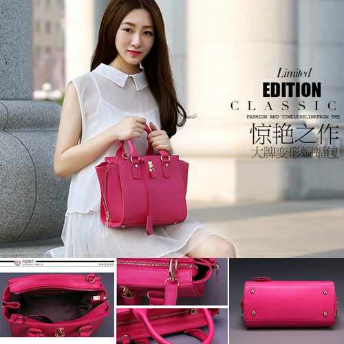 B8385 IDR.220.000 MATERIAL PU SIZE L24XH22XW10CM WEIGHT 800GR COLOR ROSE