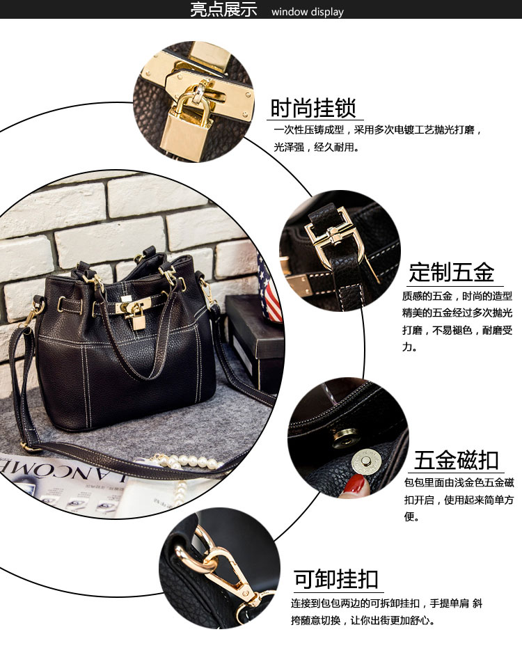 B8407 IDR.205.000 MATERIAL PU SIZE L36XH22XW14CM WEIGHT 800GR COLOR BLACK