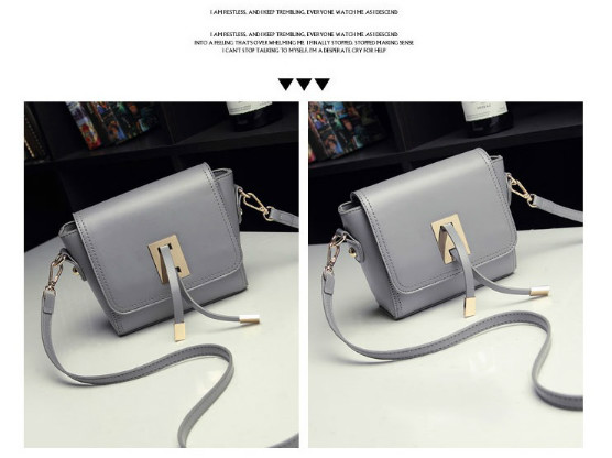 B8413 IDR.159.000 MATERIAL PU SIZE L20XH13XW6CM WEIGHT 500GR COLOR GRAY