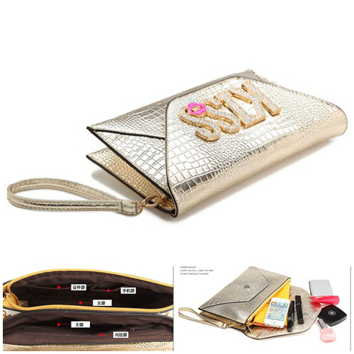 B8421 IDR.172.000 MATERIAL PU SIZE L28XH18XW2CM WEIGHT 550GR COLOR GOLD