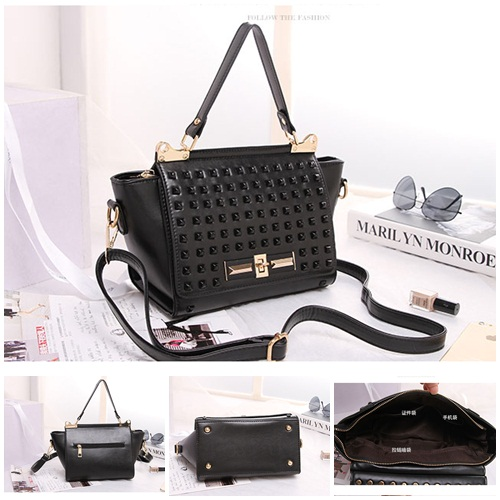 B8426 IDR.199.000 MATERIAL PU SIZE L23XH19XW11CM WEIGHT 700GR COLOR BLACK