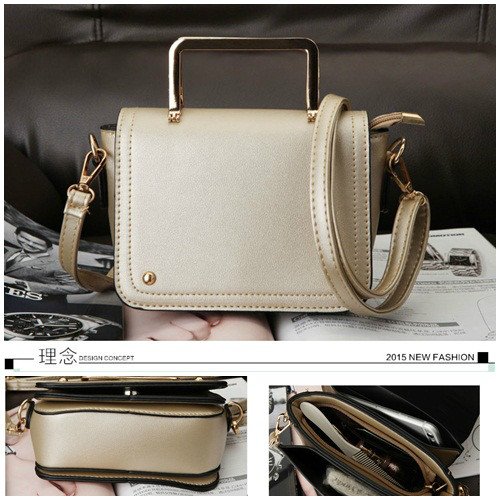 B8429 IDR.169.000 MATERIAL PU SIZE L17XH13XW5CM WEIGHT 650GR COLOR GOLD