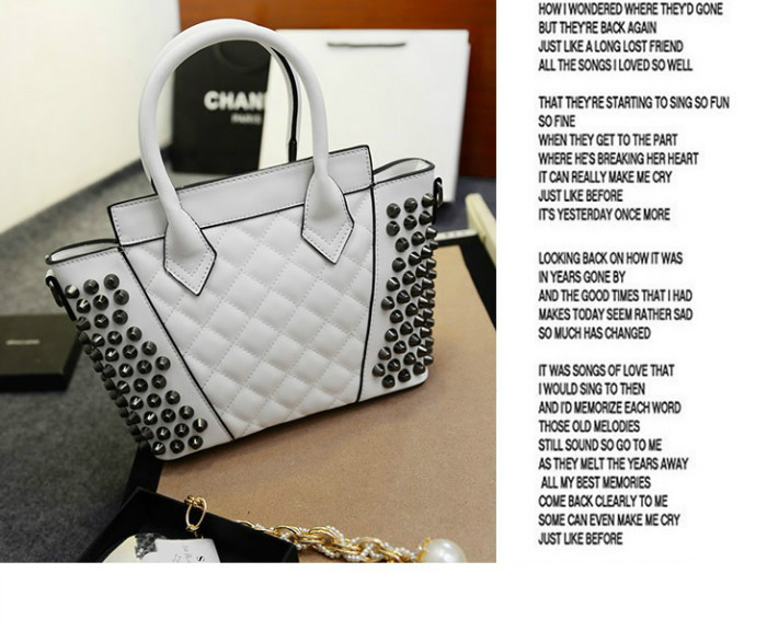 B843 IDR.197.000 MATERIAL PU SIZE L25XH22XW11CM WEIGHT 700GR COLOR WHITE