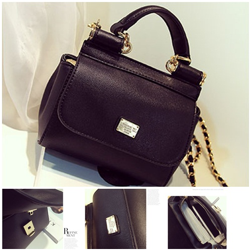 B8434 IDR.198.000 MATERIAL PU SIZE L26XH16XW7CM WEIGHT 650GR COLOR BLACK