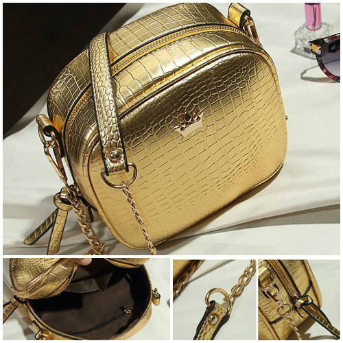 B8436 IDR.152.000 MATERIAL PU SIZE L19XH16XW8CM WEIGHT 500GR COLOR GOLD