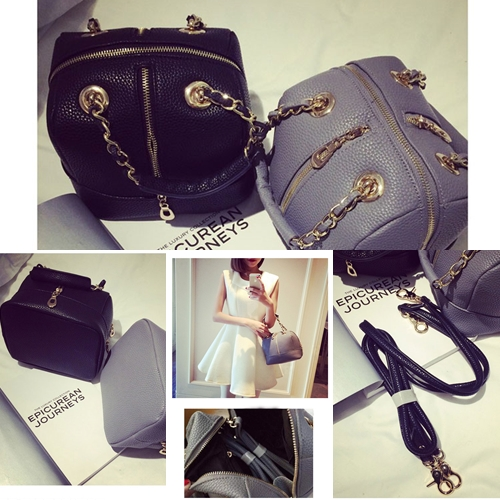 B8502 IDR.197.000 MATERIAL PU SIZE L21XH16XW17CM WEIGHT 600GR COLOR BLACK