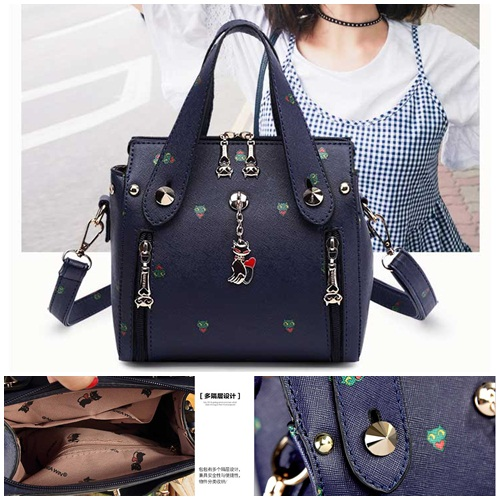 B8505 IDR.172.000 MATERIAL PU SIZE L20XH18XW8CM WEIGHT 850GR COLOR BLUE
