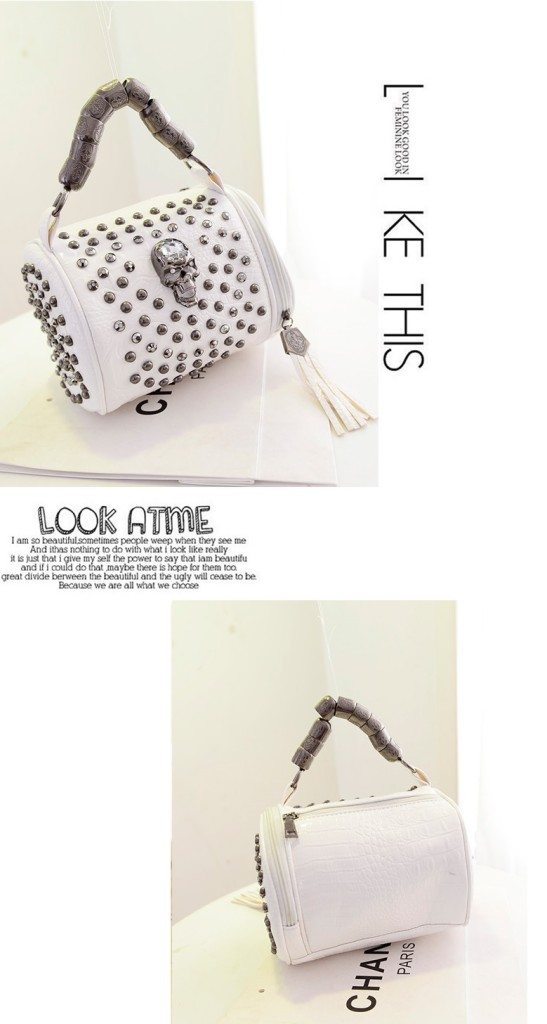 B880 IDR.185.000 MATERIAL PU SIZE L20XH18XW18CM WEIGHT 800GR COLOR WHITE