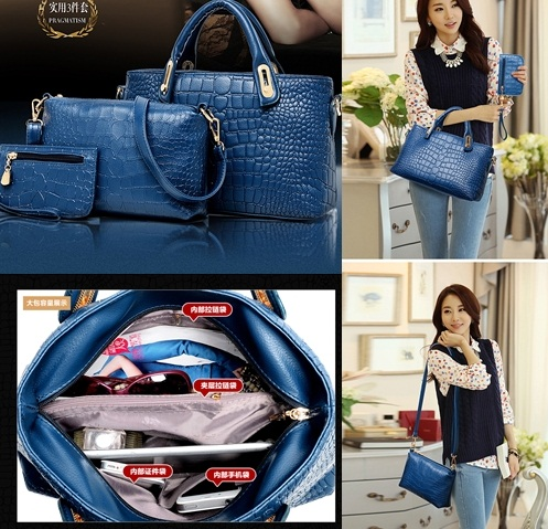 B888-(3in1) IDR.178.000 MATERIAL PU SIZE BIG-L32XH21XW12CM-MEDIUM-L20XH15XW7CM-SMALL-L16XH11CM WEIGHT 1300GR COLOR BLUE